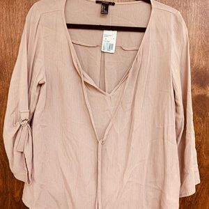 Forever 21 Tops - Blush Cream Colored Bohemian Style Blouse